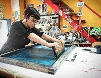 María Pujol Trabajando