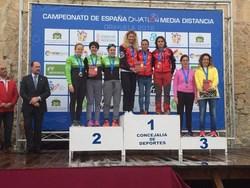 equipo femenino de Triatlón Clavería Móstoles