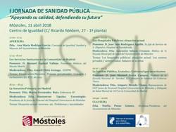 PROGRAMA I JORNADA SANIDAD PÚBLICA-Móstoles