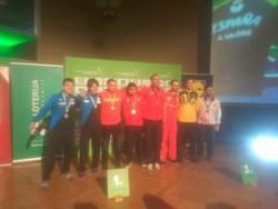 Podio Equipos Masculinos clase 11 Open de Eslovenia
