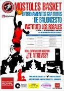 Cartel entrenamiento gratuitos de baloncesto