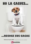 cartel perro cacas