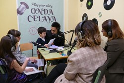 Día de la radio en el colegio Gabriel Celaya 1