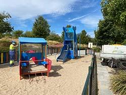 desinfecciones en los parques infantiles Mostoles peq