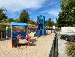 desinfecciones en los parques infantiles Mostoles p