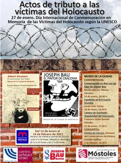 Cartel Actos tributo víctimas del Holocausto p